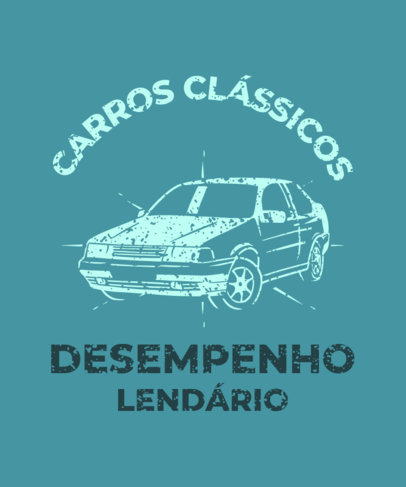 T-Shirt Design Creator for a Classic Car Social Club 3680c