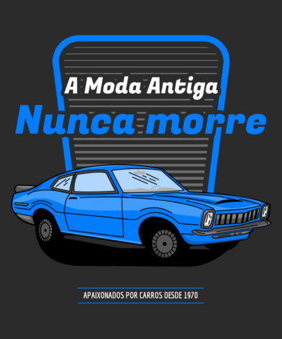 T-Shirt Design Generator for Classic Cars Enthusiasts 3681c