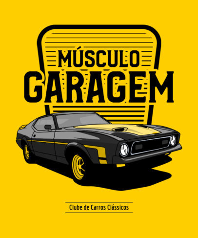 T-Shirt Design Maker for an American Muscle Automobile Garage 3681f