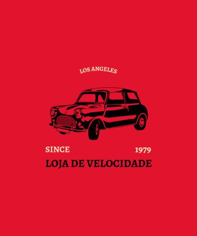 T-Shirt Design Creator with a Retro European Compact Car 3682e
