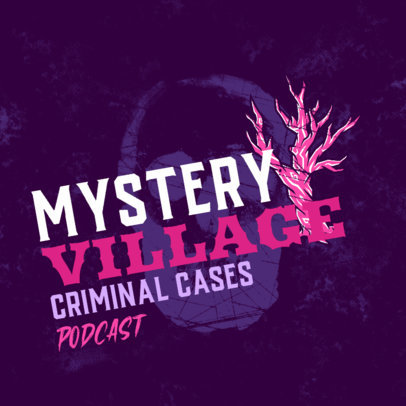 Mystery Podcast Cover Design Maker Featuring Spooky Graphics 4357i