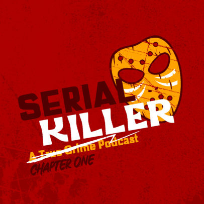 Podcast Cover Design Generator for a Criminal Stories Show 4357r