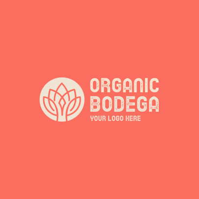 Logo Generator for an Organic Shop Featuring an Abstract Plant Graphic 4354i