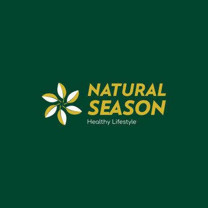 Logo Maker for Nutrition Brands Featuring a Flower Clipart 4354j