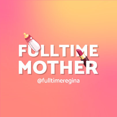 Podcast Logo Maker with a Motherhood Theme 4361d