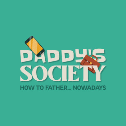 Podcast Logo Maker with a Parenting Theme for Fathers 4361f