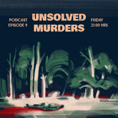 Podcast Cover Design Creator for an Unsolved Murders Show 4359c