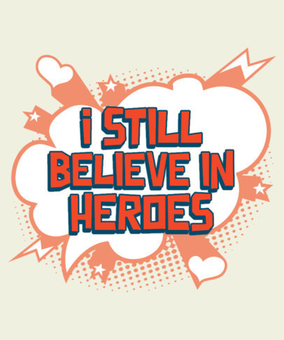 Comic Book-Inspired T-Shirt Design Maker with a Lovely Quote 3461b