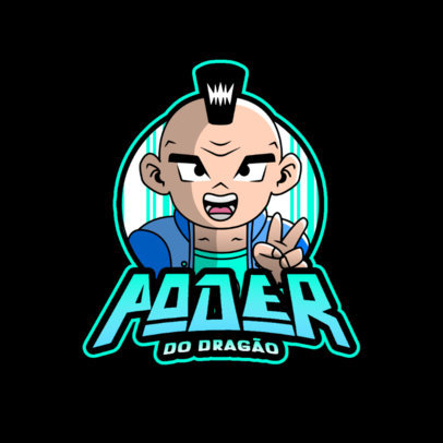 Gaming Logo Maker with Graphics Inspired by Dragon Ball Characters 4378