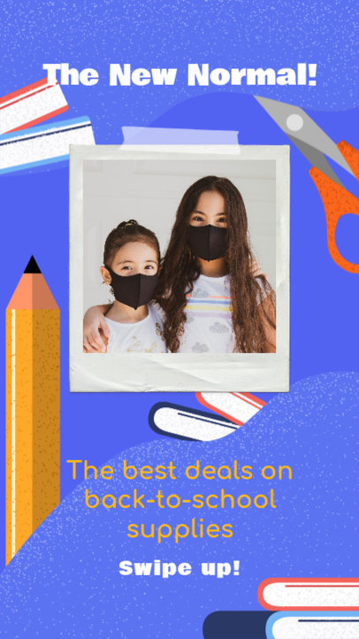Instagram Story Design Template to Celebrate Back to School 3727