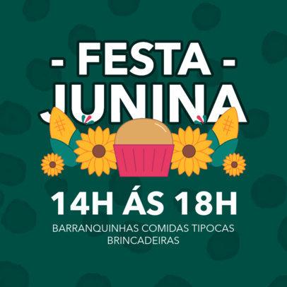 Instagram Post Design Template For a Festa Junina Event 3715