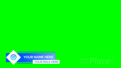 Lower Third Banner Generator Featuring Simple Geometric Shapes 2996-el1