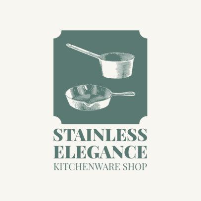 Logo Maker for Kitchenware Brands with Vintage Graphics 3980d-el1