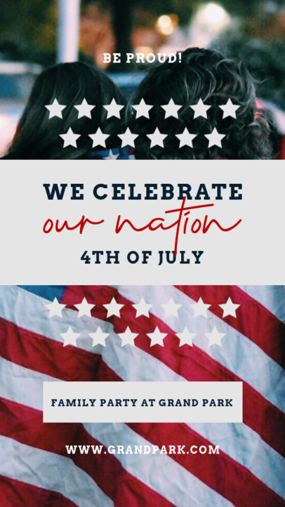 Instagram Story Design Creator to Celebrate the 4th of July 3994b-el1