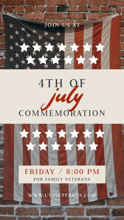Instagram Story Design Maker to Invite to a 4th of July Commemoration 3994c-el1