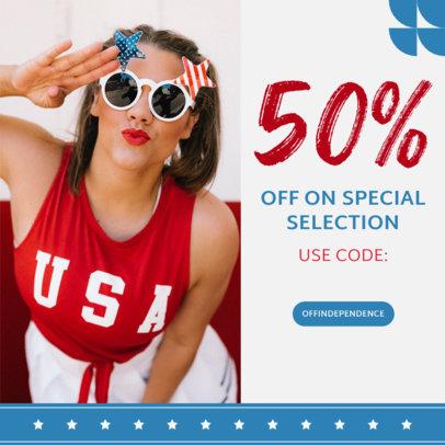 Patriotic Instagram Post Ad Creator with a Promo Code 3998b-el1