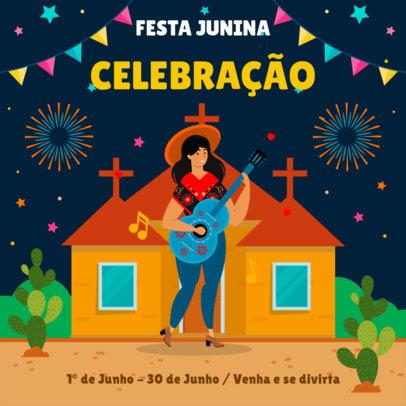 Instagram Post Generator for a Festa Junina Celebration 3713f