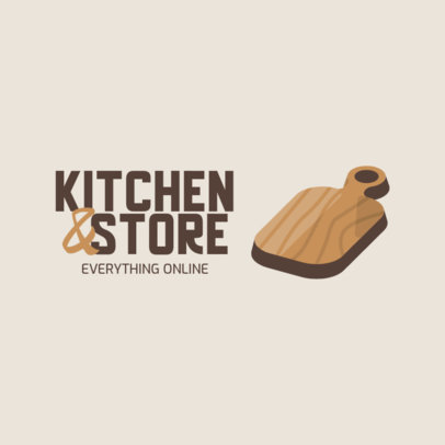Illustrated Logo Template for an Online Kitchenware Store 3984c-el1