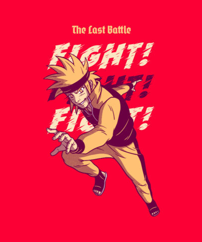 T-Shirt Design Generator Featuring a Naruto-Inspired Character 4380a