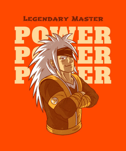 Naruto-Inspired T-Shirt Design Maker with a Cool Warrior Character 4380c