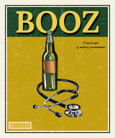 Vintage T-Shirt Design Maker with an Illustrated Bottle of Beer 3722f