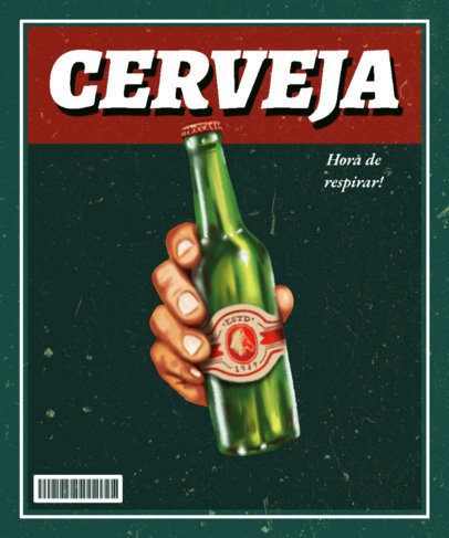 T-Shirt Design Generator Featuring a Vintage Beer Ad 3722A