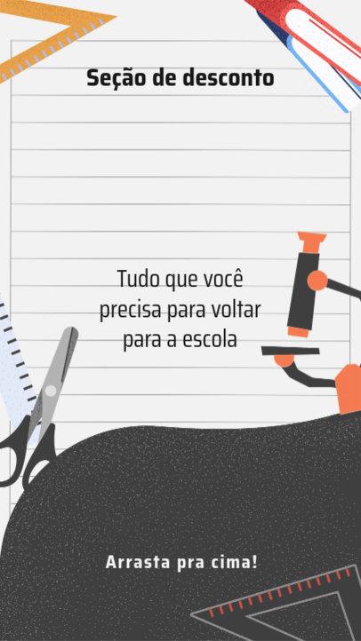 Instagram Story Generator for a Back to School Sale in Brazil 3727c