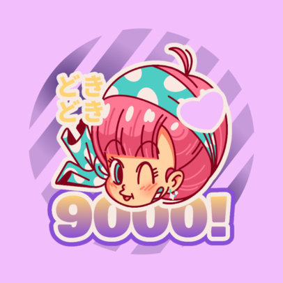 Logo Maker with a Graphic Inspired by a Girl From Dragon Ball 4376l