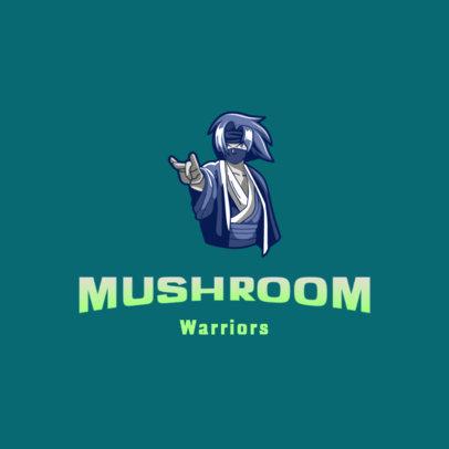 Gaming Logo Creator with a Fierce Shinobi Character Graphic 4373e