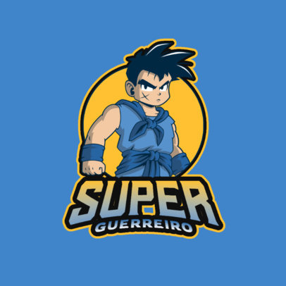 Gaming Logo Maker Featuring a Character Inspired by Yamcha from Dragon Ball 4378d