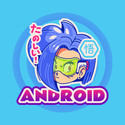 Logo Generator with a Graphic Inspired by Dragon Ball's Androids 4376k