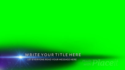 Lower Third Banner Video Maker Featuring Text and a Light Flare 3014-el1