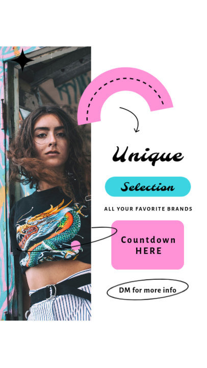 Instagram Story Design Maker for a Retro Clothing Store with a Colorful Layout 4037e-el1