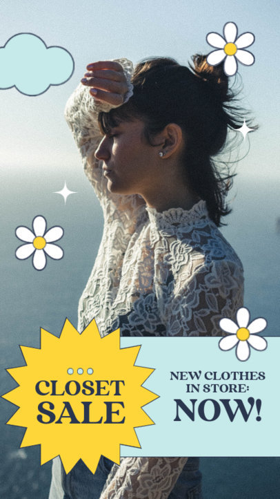 Instagram Story Generator to Announce a Second-Hand Clothing Sale 4033e-el1