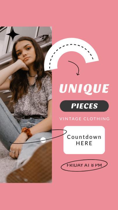 Instagram Story Design Maker for a Vintage Clothing Profile 4037b-el1