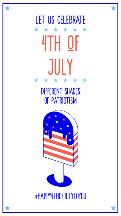 Instagram Story Generator to Celebrate 4th of July Featuring Patriotic Graphics 3752b