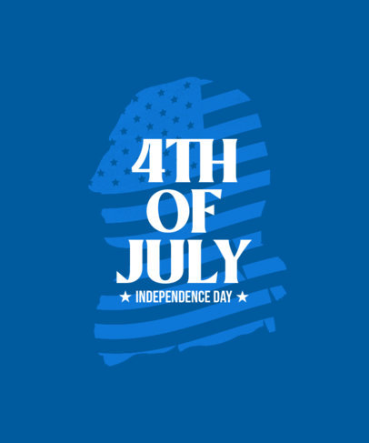 T-Shirt Design Maker for the 4th of July with a Graphic of George Washington 3751a