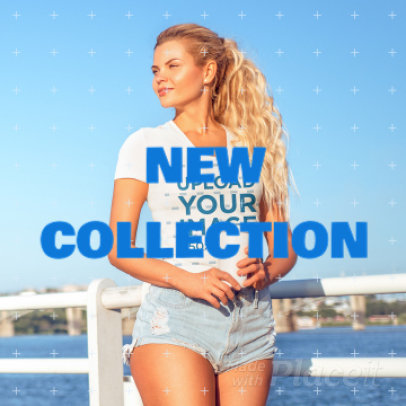 Fashion-Themed Instagram Video Template to Announce a New Summer Collection 888g 3509