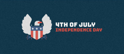 Facebook Cover Creator with an Eagle Graphic for American Independence Day 3755g