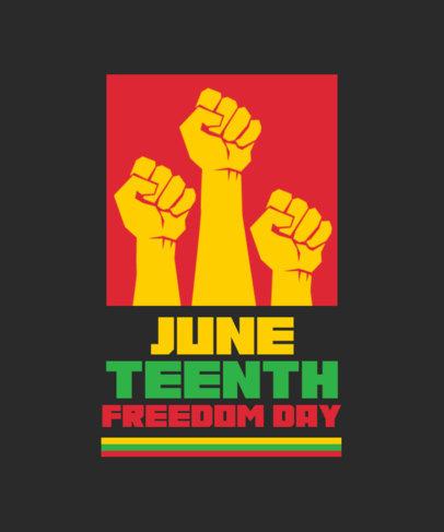 T-Shirt Design Maker Featuring Juneteenth-Themed Graphics 3773
