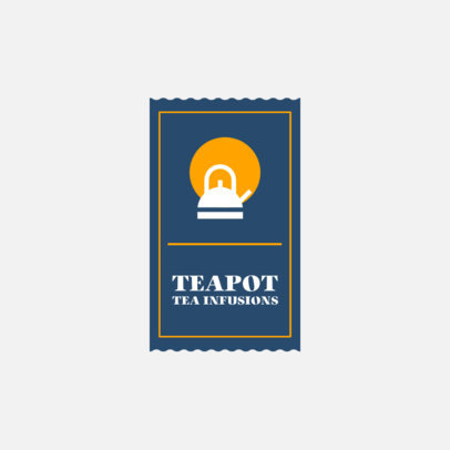 Tea Brand Logo Template With a Simple Layout 4031a-el1