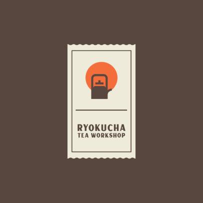 Tea Workshop Logo Template With Minimal Graphics 4031d-el1