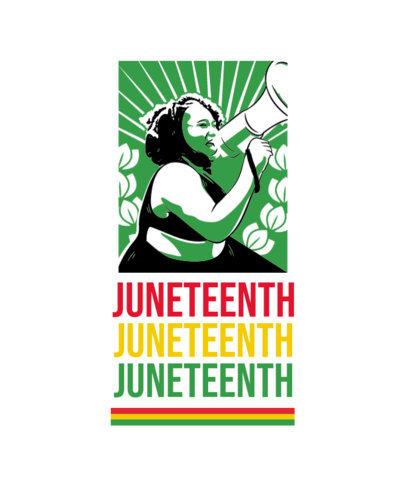 Juneteenth-Themed T-Shirt Design Maker Featuring a Woman Clipart 3773c