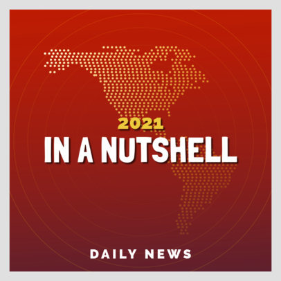 Podcast Cover Maker for Daily News Shows 4398j