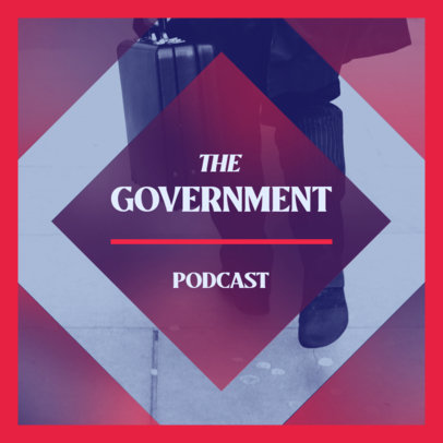 Podcast Cover Template for a Politics-Themed Show 4396a