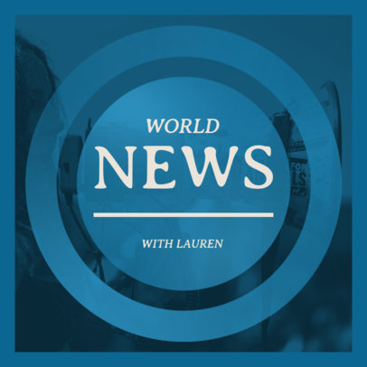 World News Podcast Cover Design Template With a Simple Layout 4396d