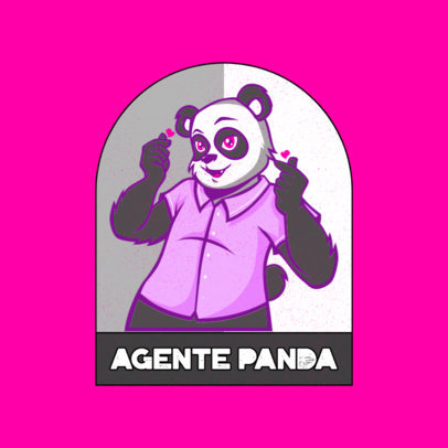 Furry-Themed Logo Maker Featuring a Lovely Panda 4392c
