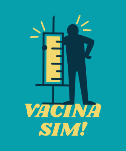 T-Shirt Design Generator Featuring Vaccination-Themed Graphics 3741e