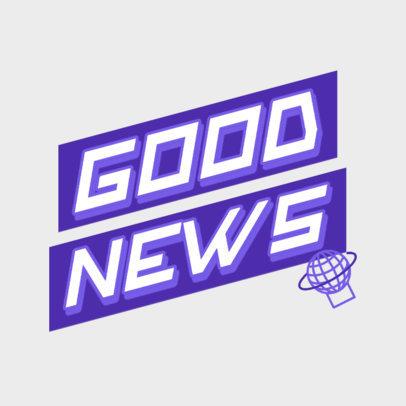Podcast Cover Maker for a Daily News Program 4400a
