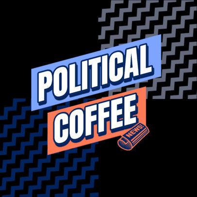 Podcast Cover Design Creator for a Politics News Breakdown 4400e